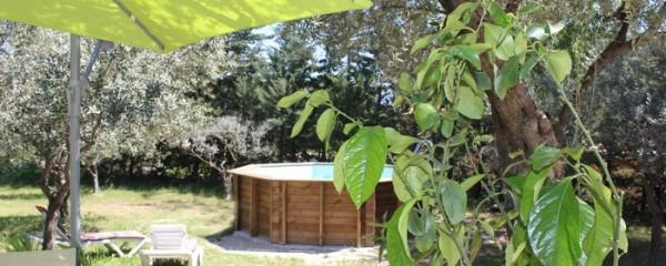 Vue de la Terrasse Villa Maison Location en Provence