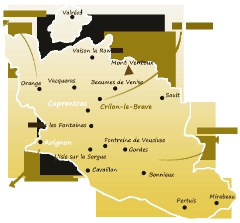 plan acces crillon le brave location en provence