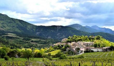 Aurel village dans le Vaucluse (84)
